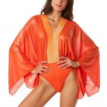 4giveness Fgw00256 Body Con Maniche  Tessuto Lucido Donna Mare Donna