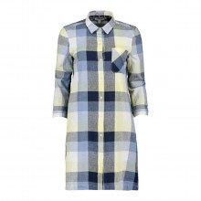 Barbour Baaabi0048 Abito Chemisier 100 % Lino Donna Casual Donna