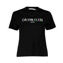 Calvin Klein Jeans J20j215487 T-shirts Multicolored Logo Tee Casual Donna