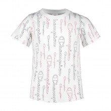 Champion 404204 T-shirt Allover Bambina Abbigliamento Bambino