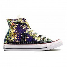 Converse 167393c Chuck Taylor All Star Hi Sequins Donna Tutte Sneaker Donna