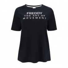 Freddy S1wbct4 T-shirt Scritte Bc Donna Sport Style Donna