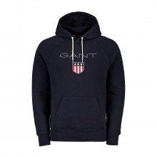 Gant 276310 Felpa Con Cappuccio Logo Shield Casual Uomo