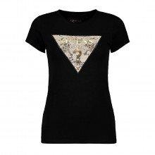 Guess W1bi52kaoq0 T Shirt Stretch Logo Triangolo Ghost Leapord Donna Casual Donna