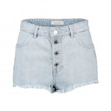 Guess W1gd59d3p31 Short In Denim Sfrangiato Donna Casual Donna