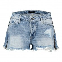 Guess W1gd70d3p32 Short In Denim Con Cerniera Donna Casual Donna