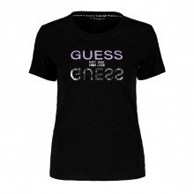 Guess W1gi0ci3z11 T-shirt Logo A Specchio Donna Casual Donna