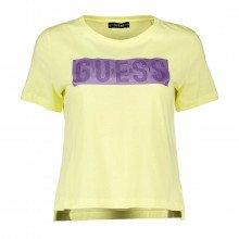 Guess W1ri05ja900 T-shirt Box Logo Donna Casual Donna