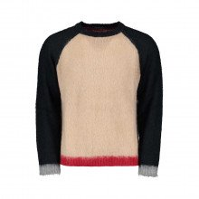 In The Box Magbocolormohair Maglione Girocollo Color Block In Mohair Casual Uomo