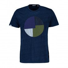 In The Box Ss210012 T-shirt Stripes Patchwork Casual Uomo