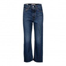 Levi's 72693 Jeans Ribcage Straight Ankle Length 27 Donna Casual Donna