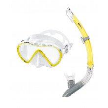 Mares 411746gu Set Maschera+snorkel Vento Maschere E Pinne Subacquea Uomo