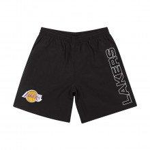 Mitchell & Ness Shoraj19015 Short Nylon Los Angeles Lakers Abbigliamento Basket Uomo