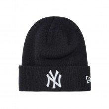 New Era 12122728 Beanie Essential Cuff Ny Yankees Blwh Accessori Uomo