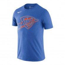 Nike Bv8137 T-shirt Logo Okc Thunder Abbigliamento Basket Uomo