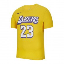 Nike Bv8795 T-shirt Lebron James Lakers City Edition Squadre Basket Uomo