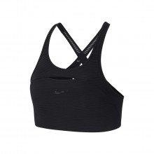 Nike Cj0733 Reggiseno Swoosh Striped Sport Abbigliamento Training E Palestra Donna