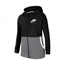 Nike Cu8302 Felpa Full Zip Con Cappuccio Air Bambina Abbigliamento Bambino