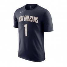 Nike Cv8538 T-shirt Name Number Williamson Pelicans Abbigliamento Basket Uomo