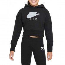 Nike Da1173 Felpa Crop Con Cappuccio Air Bambina Abbigliamento Bambino