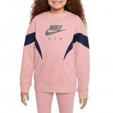 Nike Dd7135 Felpa Giro Air Garzata Bambina Abbigliamento Bambino