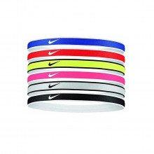 Nike N1002021655os Swoosh Headbands 6pk Ur/gr/vt Accessori Running Uomo