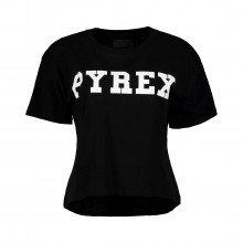 Pyrex 34222 T-shirt Crop Logo Donna Sport Style Donna