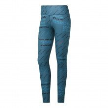 Reebok Fk6867 Leggings Workout Allover Print Donna Abbigliamento Training E Palestra Donna