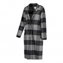 Silvian Heach Pga20440cp Cappotto In Check Callas Donna Casual Donna