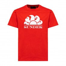 Sundek M057tej9200 T Shirt Macro Logo Casual Uomo