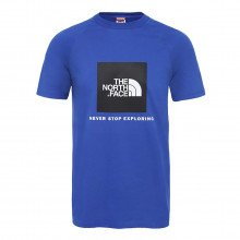 The North Face Nf0a3bqocz6 T-shirt  Raglan Red Box Street Style Uomo