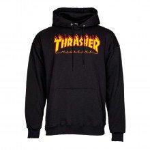 Thrasher 312007 Felpa Con Cappuccio Flame Logo Street Style Uomo
