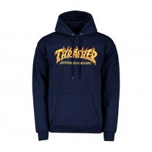 Thrasher 314303 Felpa Con Cappuccio Fire Logo Street Style Uomo
