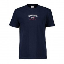 Tommy Jeans Dm0dm10620 T-shirt Timeless Logo Casual Uomo