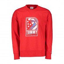 Tommy Jeans Dm0dm10661 Felpa Girocollo Basketball Crew Casual Uomo