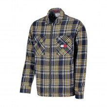 Tommy Jeans Dm0dm10980 Camicia Fantasia Check Con Zip Casual Uomo