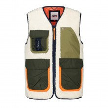 Tommy Jeans Dm0dm11211 Gilet Multitasche In Sherpa Giacconi Uomo