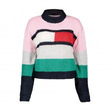 Tommy Jeans Dw0dw08868 Maglione Lupetto Color Block Donna Casual Donna