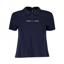 Tommy Jeans Dw0dw09909 Polo Tjw Regular Linear Logo Donna Casual Donna