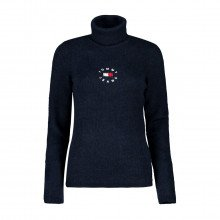 Tommy Jeans Dw0dw10994 Maglione Dolcevita Tiny Rib Turtleneck Donna Casual Donna