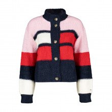 Tommy Jeans Dw0dw11000 Cardigan Color Block Branded Donna Casual Donna