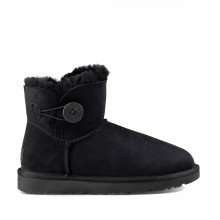 Ugg 1016422 Mini Bailey Button Ii Nero Tutti Stivali E Boot Donna