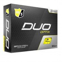 Wilson Wgwp50200+ Duo Optix Yellow 12-ball Palline Golf Uomo