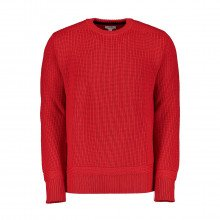 Woolrich Womag1869uf0352 Maglione Girocollo In Lana A Coste Casual Uomo
